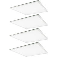 3600 Lumens - 2x2 Ceiling LED Panel Light - 36 Watt - 3500 Kelvin - Opaque Smooth Lens - DLC Premium 4.2 - 4 Pack - 5 Year Warranty