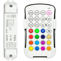 LED Controller and RF Remote for 12V or 24V Color Changing RGB LED Tape Light - PLT M6-M3-3A
