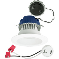 575 Lumens - 4 in. Retrofit LED Downlight - 9.5W - 50W Equal - 3500 Kelvin - Smooth Baffle Trim - Dimmable - 120V - Cree CR4575L35K12GU24