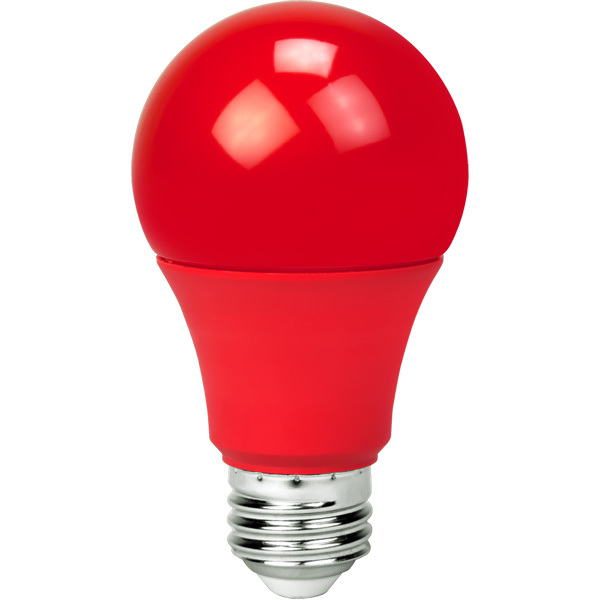 Red - LED - A19 Party Bulb - 9 Watt Image