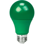 Green - LED - A19 Party Bulb - 9 Watt Image