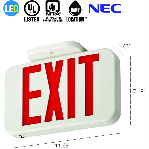 LED Exit Sign - Red Letters Image