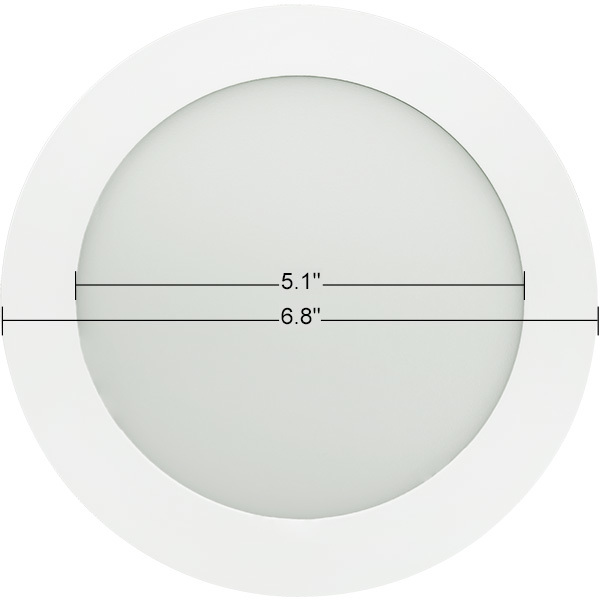 6 in. Ultra Thin LED Downlight - 12W Image