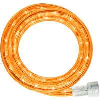 LED - 30 ft. - Rope Light - Amber - 120 Volt - Includes Easy Installation Kit - Clear Tubing with Amber LEDs - Signature LED-13MM-AM-30KIT