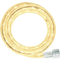 LED - 30 ft. - Rope Light - Warm White (Clear) - 120 Volt - Includes Easy Installation Kit - Signature LED-13MM-WW-30KIT