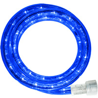 Incandescent - 12 ft. - Rope Light - Blue - 120 Volt - Includes Easy Installation Kit - Blue Tubing with Warm White Bulbs - Signature 13MM-BL-12KIT