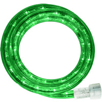 Incandescent - 12 ft. - Rope Light - Green - 120 Volt - 150 ft. Max Run - Includes Easy Installation Kit - Green Tubing with Warm White Bulbs