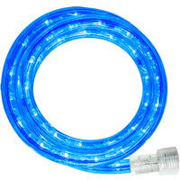 LED - 51 ft. - Rope Light - Blue - 120 Volt - Includes Easy Installation Kit - Clear Tubing with Blue LEDs - Signature LED-13MM-BL-51KIT