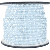 1/2 in. - LED - Cool White - Rope Light - 2 Wire - 120 Volt - 150 ft. Spool -  Clear Tubing with Cool White LEDs - FlexTec LED-13MM-CW-150