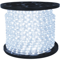 1/2 in. - LED - Cool White - Chasing Rope Light - 3 Wire - 120 Volt - 150 ft. Spool - Clear Tubing Cool White LEDs - Signature LED-DLCH-CW