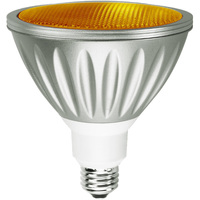 Amber LED - PAR38 - 7 Watt - 30W Equal - 35 Deg. Flood - Wet Location