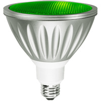 Green LED - PAR38 - 9 Watt - 50W Equal - 35 Deg. Flood - Wet Location