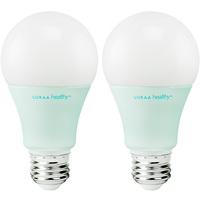 Soraa SH-A19-11-27-01-X2 - 600 Lumens - 11 Watt - 60W Incandescent Equal - Soraa Healthy LED A19 - With Zero Blue Technology - 2700 Kelvin Soft White - Dimmable - 2 Pack
