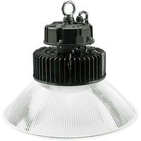 20,000 Lumens - LED High Bay - 3500 Kelvin - Height 13.1 in. x Diameter 16.3 in. - Clear Prismatic Reflector - 120-277V - PLTE6234