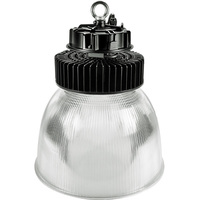 30,000 Lumens - LED High Bay - 3500 Kelvin - Height 19.7 in. x Diameter 16.1 in. - Clear Prismatic Reflector - 120-277V - PLTE6314