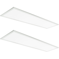 4413 Lumens - 4000 Kelvin Cool White - 40 Watt - 1x4 Ceiling LED Panel Light - Equal to a 2-Lamp T8 Fluorescent Troffer - Opaque Smooth Lens - 90 Minute Emergency Backup - 2 Pack - 5 Year Warranty - GlobaLux RLP-14-40-MVD-840-EML8