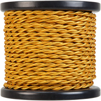 100 ft. Spool - Rayon Antique Wire - Gold - 18 Gauge - Twisted Cord