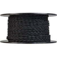 250 ft. Spool - Rayon Antique Wire - Black - 20 Gauge - Twisted Cord