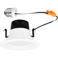 750 Lumens - 4 in. Retrofit LED Downlight - 10W - 75W Equal - 3000 Kelvin - Smooth Baffle Trim - Dimmable - 120V - TCP LED10DR430K