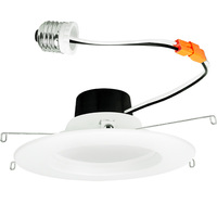 900 Lumens - 5-6 in. Retrofit LED Downlight - 11W - 75W Equal - 5000 Kelvin - Smooth Baffle Trim - Dimmable - 120V - TCP LED11DR5650K