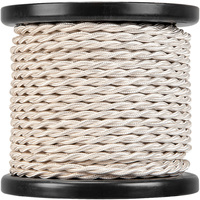 100 ft. Spool - Rayon Antique Wire - Cream - 18 Gauge - Twisted Cord