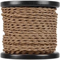 100 ft. Spool - Rayon Antique Wire - Light Brown - 18 Gauge - Twisted Cord