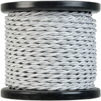 100 ft. Spool - Rayon Antique Wire - Silver White - 18 Gauge - Twisted Cord