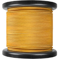 100 ft. Spool - Rayon Covered Cord - Gold - 18 Gauge - Single Wire