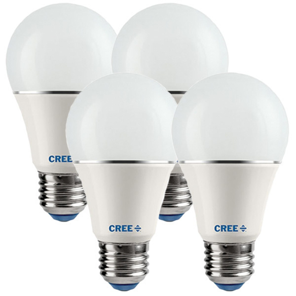 LED A19 - 10 Watt - 60W Incandescent Equal - 815 Lumens - 2700K - 90CRI - Dimmable - 4 Pack Image