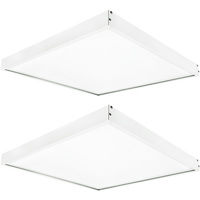 4400 Lumens - 4000 Kelvin Cool White - 40 Watt - 2x2 Ceiling LED Panel Light With Surface Mount Kit - Equal to a 2-Lamp T8 Fluorescent Troffer - Opaque Smooth Lens - 2 Pack - GlobaLux KIT10041