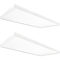 5800 Lumens - 5000 Kelvin Daylight White - 50 Watt - 2x4 Ceiling LED Panel Light With Surface Mount Kit - Equal to a 3-Lamp T8 Fluorescent Troffer - Opaque Smooth Lens - 2 Pack - GlobaLux KIT10045