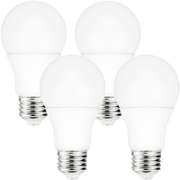 800 Lumens - 9 Watt - 60W Incandescent Equal - LED - A19 - 5000 Kelvin Daylight White - 4 Pack - Euri Lighting EA19-3151-4