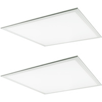 4400 Lumens - 4000 Kelvin Cool White - 40 Watt - 2x2 Ceiling LED Panel Light - Equal to a 2-Lamp T8 Fluorescent Troffer - Opaque Smooth Lens - 90 Minute Emergency Backup - 2 Pack - 5 Year Warranty