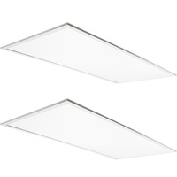 6250 Lumens - 2x4 Ceiling LED Panel Light - 50 Watt - 4000 Kelvin - Opaque Prismatic Lens - DLC Premium 4.2 - 2 Pack - 5 Year Warranty