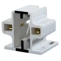 2 Pin GX23 or GX23-2 CFL Socket - Horizontal Screw Down Mount - Use with 13 Watt Twin Tube Lamps - Rated 75W 600V - Leviton 50-2711-99
