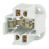 4 Pin GX24q-2 CFL Socket - Vertical Screw Down Mount - For 18 Watt Twin Tube Lamps - 75 Watt Maximum - 600 Volt Maximum - Leviton 50-2735-99