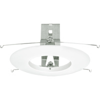 6 in. - White Open Trim - With Bracket