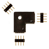 L-Shape Connector for 12 or 24 Volt LED Tape Light - (3) 4-Pin Connectors Included - FlexTec LCONNL4P
