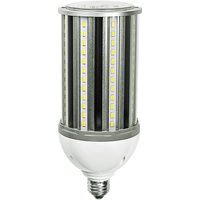 4500 Lumens - 36 Watt - LED Corn Bulb - 100W Metal Halide Equal - 3000 Kelvin - Medium Base - 120-277V - 5 Year Warranty