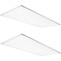 5500 Lumens - 2x4 Ceiling LED Panel Light - 50 Watt - Tunable Color Temperature - 3000-5000 Kelvin - Opaque Smooth Lens - 2 Pack - 5 Year Warranty - Requires a controller for color tuning - Sold Separately
