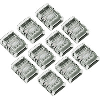 Strip-to-Strip Tape Light Connectors - 4-Pin - For reconnecting cut strips of RGB Tape Light - 10 Pack