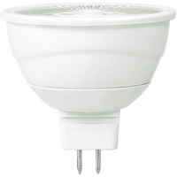480 Lumens - 3000 Kelvin - LED MR16 - 7 Watt - 50W Equal - 40 Deg. Flood - Color Corrected CRI 90 - Dimmable - 12V - GU5.3 Base - Ushio 1004435