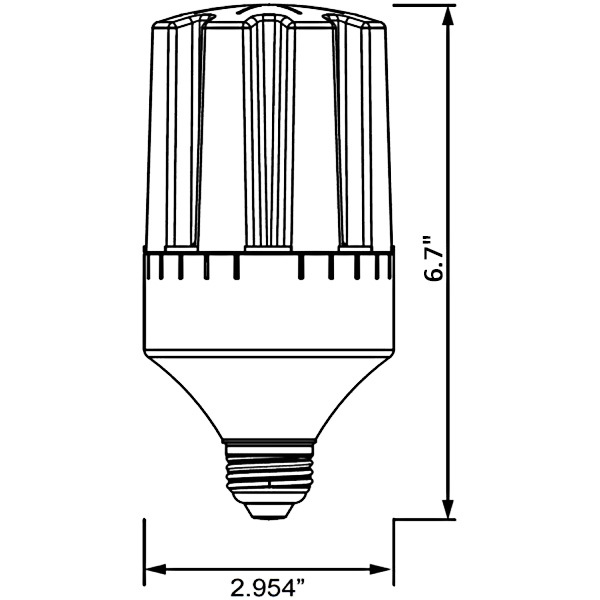 2362 Lumens - 24 Watt - LED Corn Bulb Image