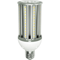 4300 Lumens - 36 Watt - LED Corn Bulb - 100W Metal Halide Equal - 3000 Kelvin - Mogul Base - 120-277V - 5 Year Warranty