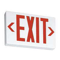 LED Exit Sign - Red Letters - 120/277 Volt and Battery Backup - White - Lithonia EXR