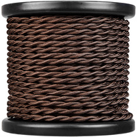 100 ft. Spool - Rayon Antique Wire - Brown - 18 Gauge - Twisted Cord