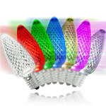LED C9 - Color Changing - 0.96 Watt - Intermediate Base - Faceted Finish Image