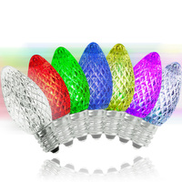 LED C7 - Color Changing - 0.96 Watt - Candelabra Base - Faceted Finish - 50,000 Life Hours - LED Retrofit Bulb - 120 Volt - Pack of 25