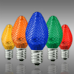 LED C7 - Multi-Color - 0.96 Watt - Candelabra Base - Faceted Finish Image