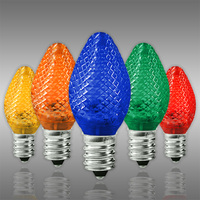 LED C7 - Multi-Color - Candelabra Base - Faceted Finish - 50,000 Life Hours - LED Retrofit Bulb - 120 Volt - Pack of 25